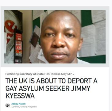 THE UK IS ABOUT TO DEPORT A GAY ASYLUM SEEKER JIMMY KYESSWA