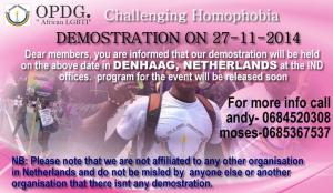 holland, Netherlands LGBT protest OPDG
