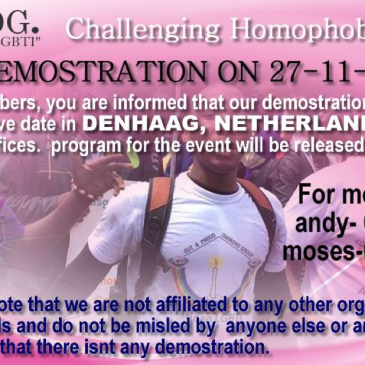 holland, Netherlands LGBT protest OPDG