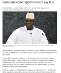 The Gambia Anti-Gay President