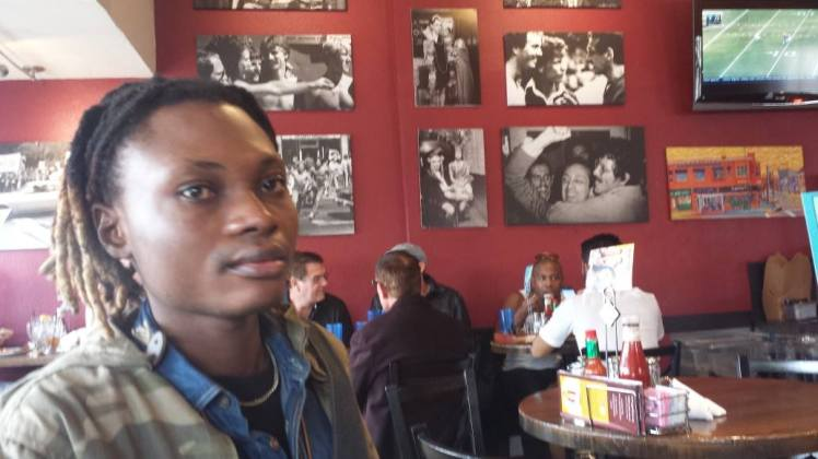Junior at Harvey in the Castro, Photo Note Harvey Milk's picture on wall behind: Pic: Melanie Nathan©