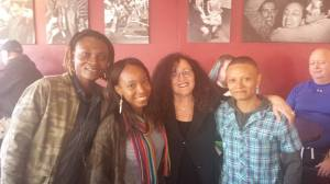 Junior, Melanie Nathan and friends from Africa meet first weekend to celebrate in Castro Harvey's Cafe