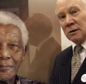 Richard Stone and his Mandela portrait