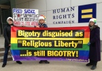 fred sainz HRC religious bigotry protest