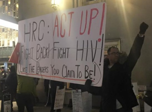 ACT UP protest NYC Gala by HRC