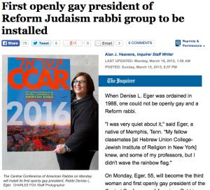 denise eger rabbi reform