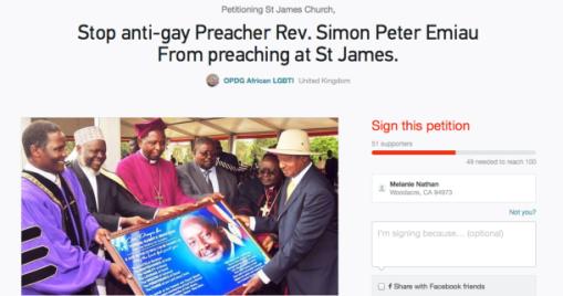 Simon preacher Ugandan ban