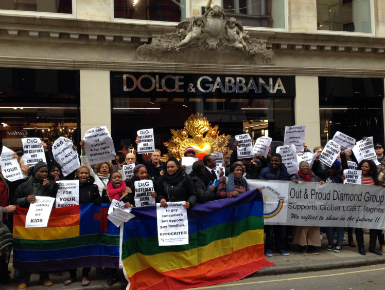 dolce and gabanna protest out and proud