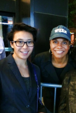 Audra McDonald with film student Hannah Cole (caveat - Melanie Nathan's daughter)  Thanks HC for the pic and for participating in the equality movement