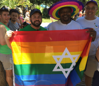 Davis in Israel for Pride 2015.
