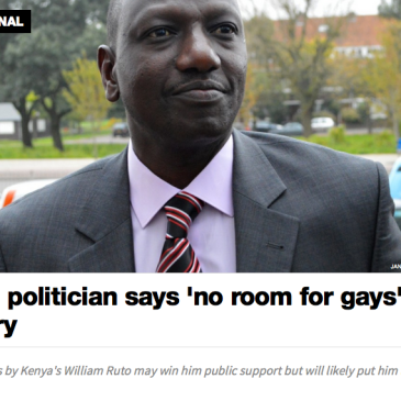 william Ruto anti-gay Deputy president kenya