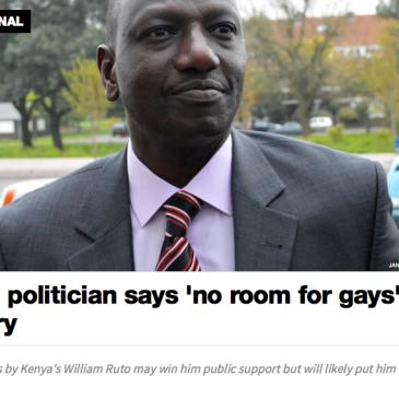 william Ruto anti-gay Deputy president kenya