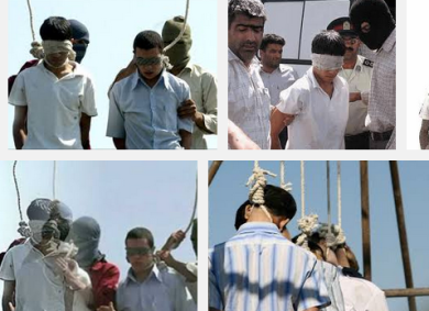 Photos of the hanging of Mahmoud Asgari and Ayaz Marhoni
