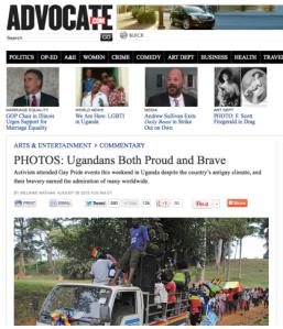 Advocate article uganda pride