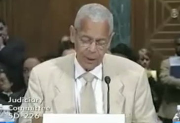 JULIAN BOND, Civil RIghts HERO, Speaking at UAFA Senate Judiciary Committee Hearing , 2009, 2009