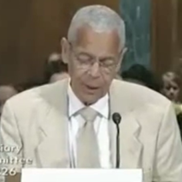 JULIAN BOND, Civil RIghts HERO, Speaking at UAFA Senate Judiciary Committee Hearing , 2009, 2009