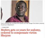 Mubiru sentenced