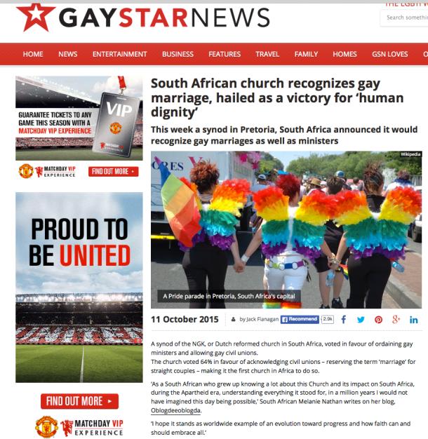Gay Star News NG kerk