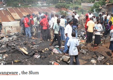 Slum in Kenya where urbanrefugees have been compelled to stay