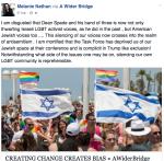Melanie screenshot of LGBT TASK FORCE JEW ban