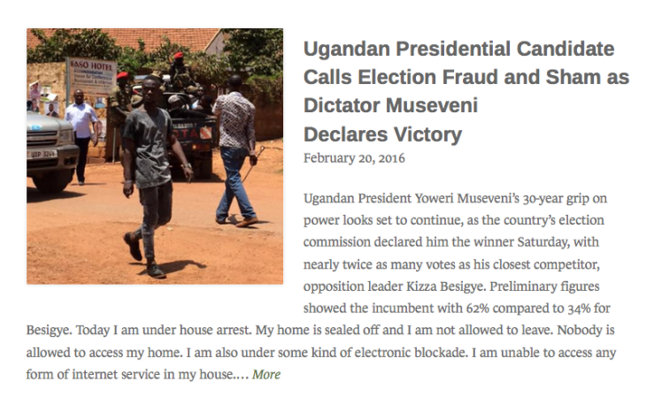 Uganda eleciton article