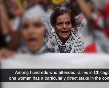 Chanting to drive Israelis into the Sea