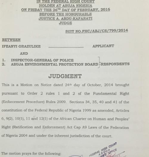 Nigerian case