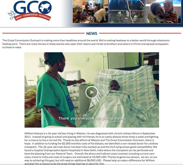 Watato Greater commisison outreach fund raiser