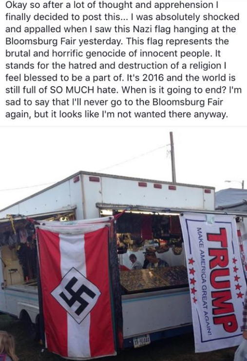 PA Fair Nazi Flag vendor