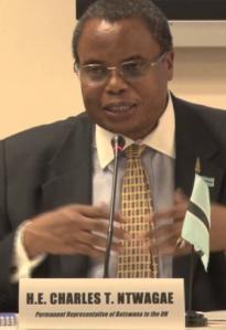 Botswana Ambassador to UN Charles Ntwaagae