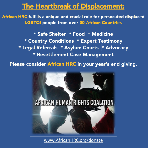 African Human Rights Coalition Thanks you for your support: http://www.africanHRC.org/donate